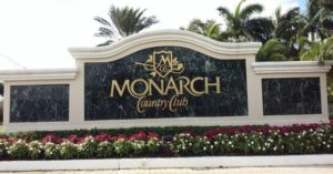 Monarch County Club Entrance Sign